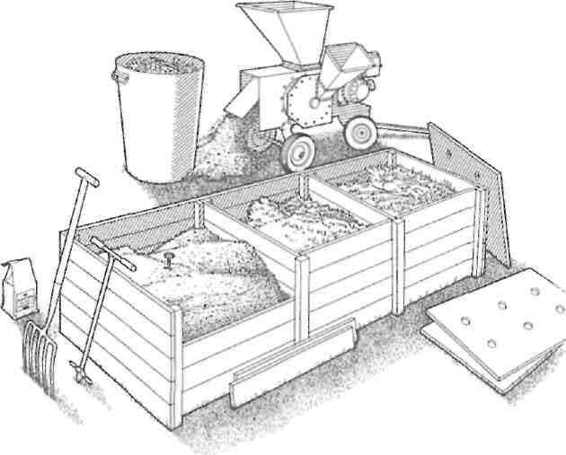 A managed 3 compost bins compost system
