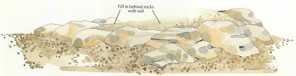 how to build a rock garden