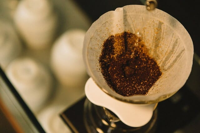 The used coffee grounds and paper filters from your coffee machine can all go in the compost bin.