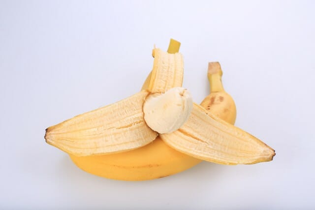 Even dried banana peels can be used for composting.