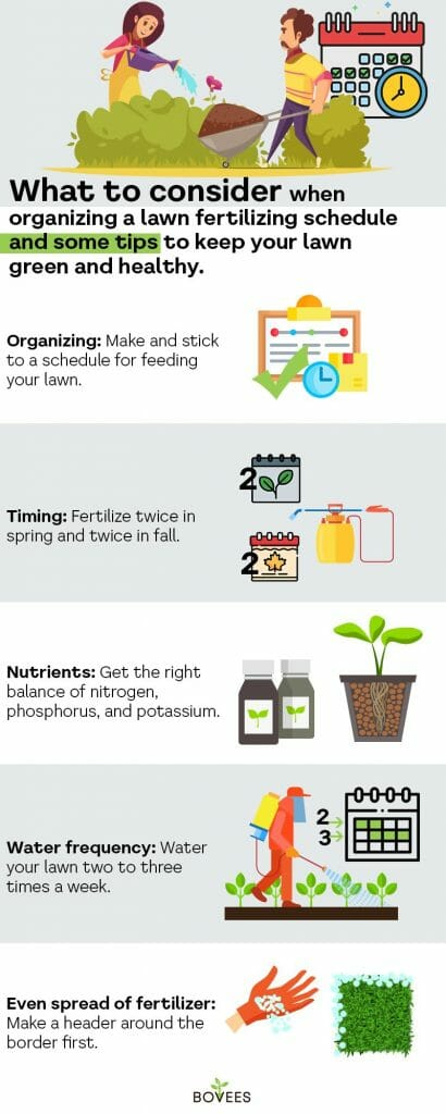 fertilize your grass in spring at least once a year
